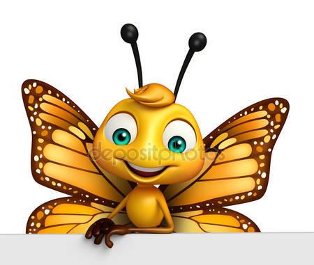 Фотообои Бабочка из мультфильма