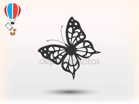 Фотообои Черная бабочка