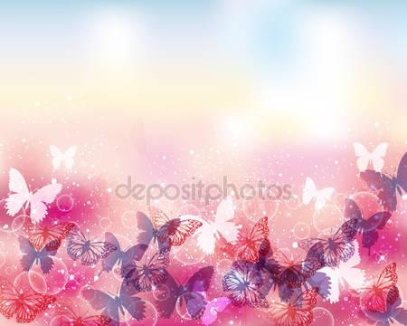 Фотообои Фон бабочек