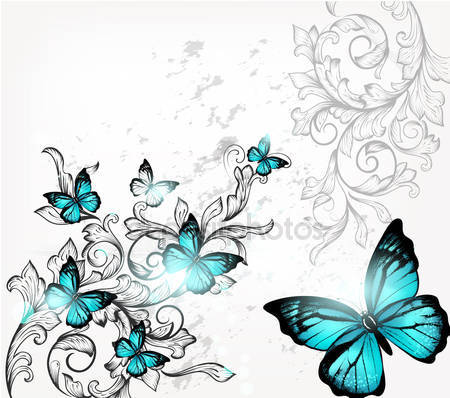Фотообои Элегантный фон с бабочками