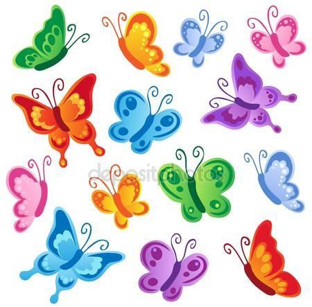 Фотообои Различные коллекции бабочек