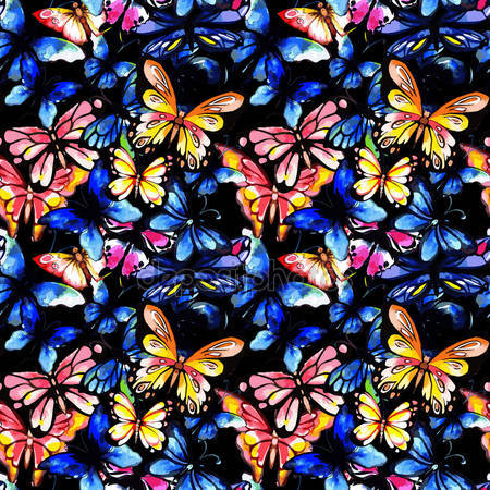 Фотообои Акварельная бабочка