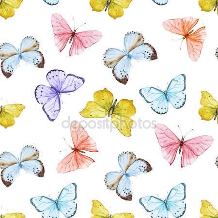 Фотообои Акварель бабочки
