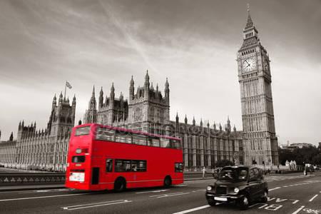 Фотообои Автобус в лондоне