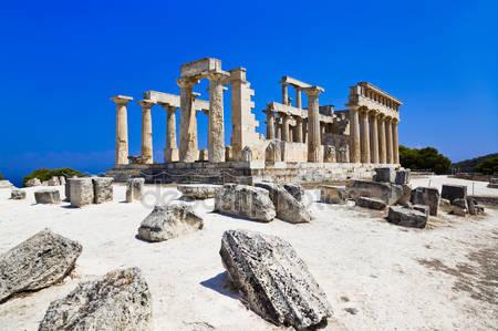 Руины храма на острове эгина