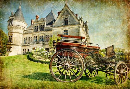 Старофранцузский замок с вагоном