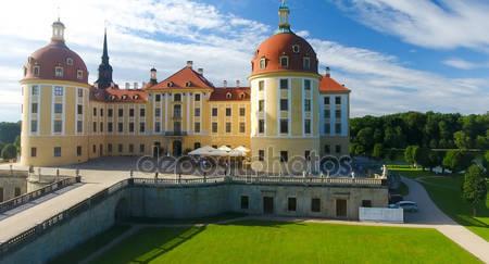 Замок moritzburg из воздуха
