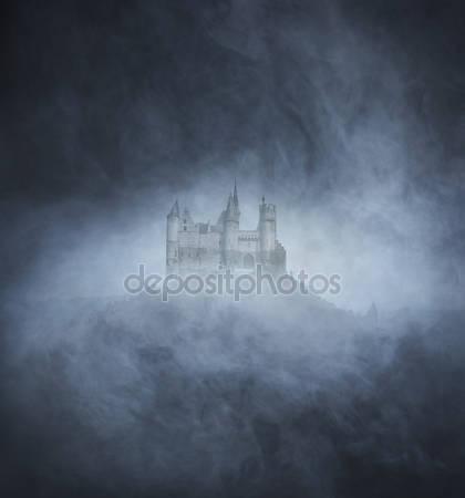 Фон хэллоуина с древним замком