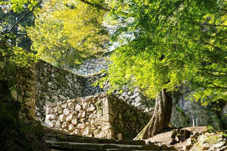 Стены замка мацуяма