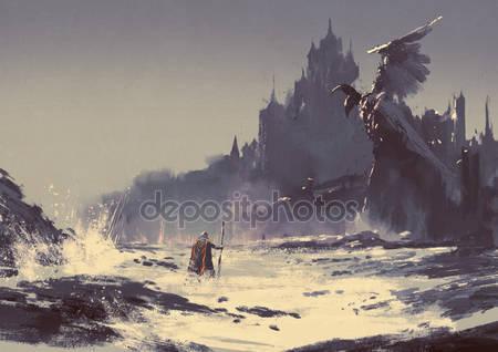 Тёмное фэнтези замок