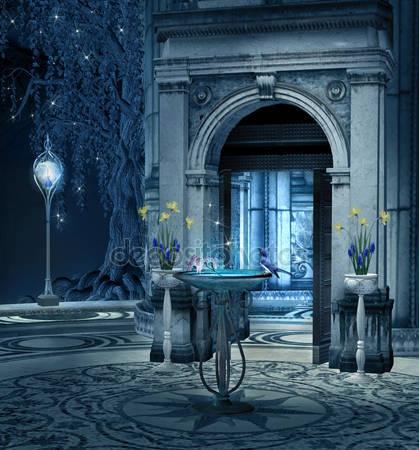 Фотообои Эльфы дворец терраса