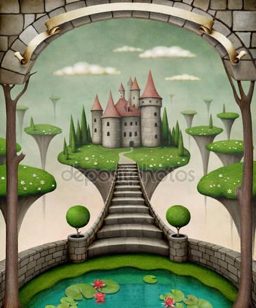 Луга и замок