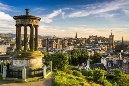 Прекрасный вид города эдинбург