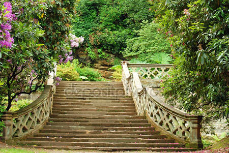 Каменная лестница в замок