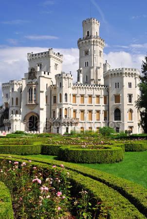 Замок hluboka nad vltavou