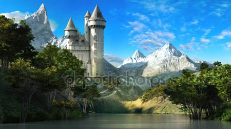 Замок на наклоне гор