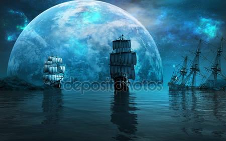 Два парусных судна