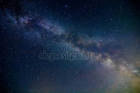 Сцена ночи млечный путь