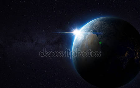 Фотообои Вид земли из космоса