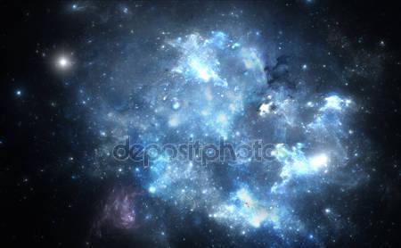 Синия космическая туманность
