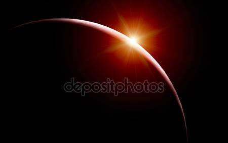 Красный восход солнца