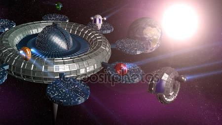 Фотообои 3d космическая станция
