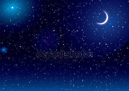 Лунный пейзаж пространства