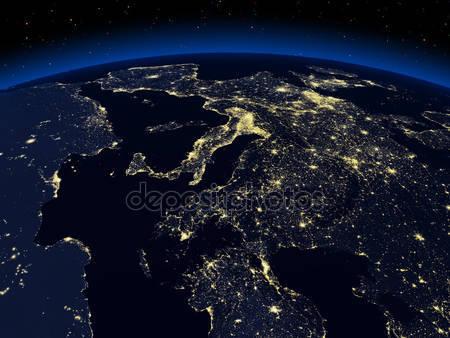 Фотообои Ночная земля