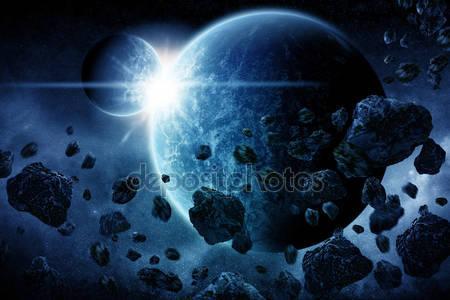 Фотообои Апокалипсис взрыва планеты