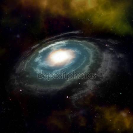 Фотообои Синия спиральная галактика