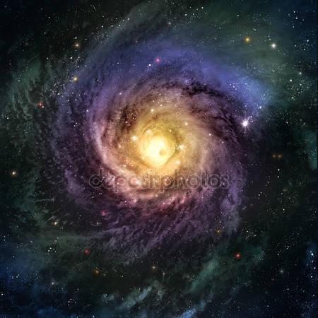 Невероятно красивая спиральная галактика