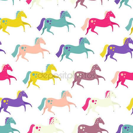 Бесшовные лошади