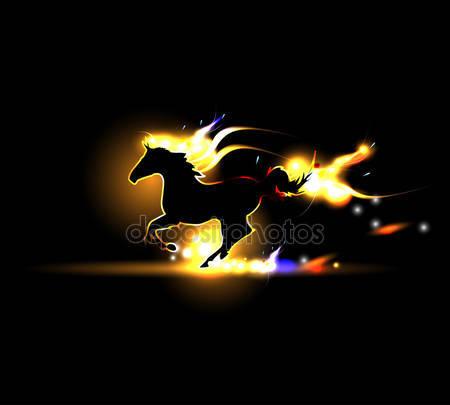 Флэш-вектор лошади