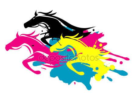 Разноцветные лошади
