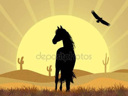 Фотообои Лошади в пустыне
