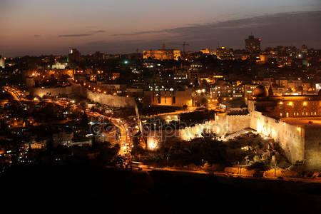 Фотообои Ночной иерусалим