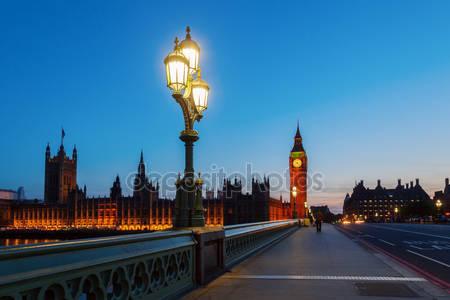 Фотообои Биг-бен и вестминстерский дворец ночью