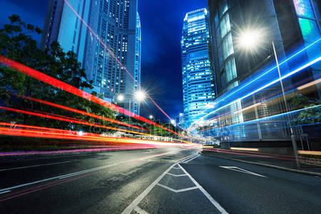 Современный город ночью