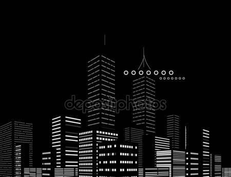 Фотообои Ночь современного города