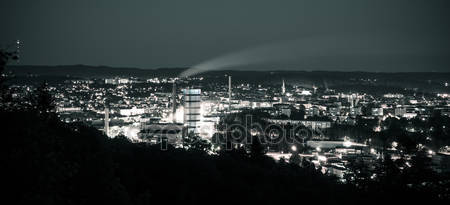 Фотообои Ночной городской горизонт