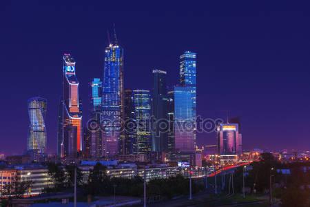 Фотообои Ночной город москва