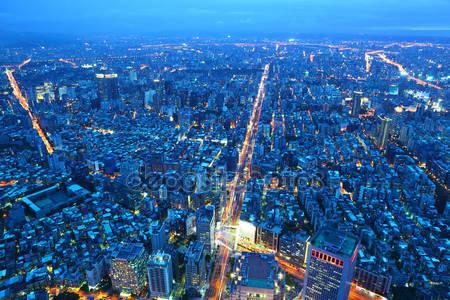 Тайбэй город ночью