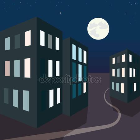 Фотообои Ночная городская улица