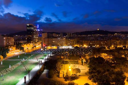 Фотообои Ночная панорама города