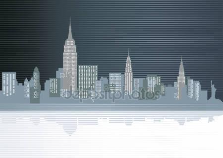 Фотообои Большой город в вечернее время