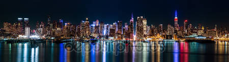 Фотообои Нью-йорк ночью