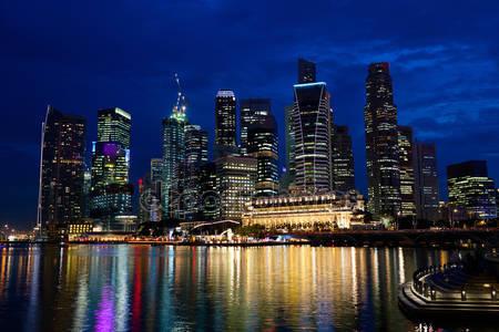 Фотообои Ночной сингапур