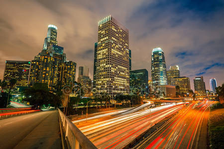 Лос-анджелес в ночное время