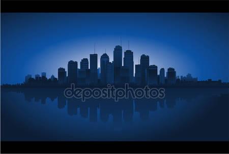 Фон горизонты города