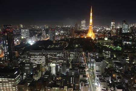 Город токио в японии в ночное время